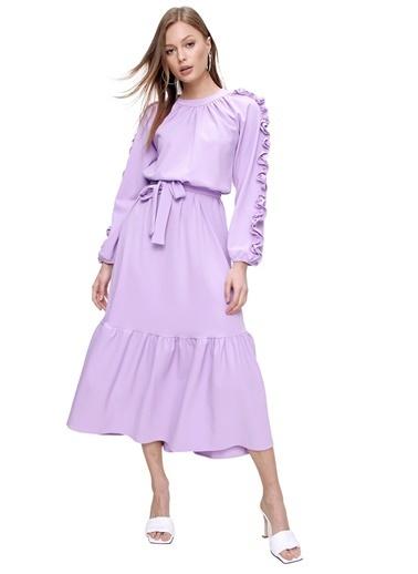 Butikburuç Elbise Lila